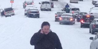 Post Snowpocalypse Drive into Work